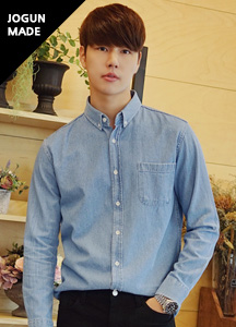 21094 - Daily button-down denim shirt <br> (3 size) <br>