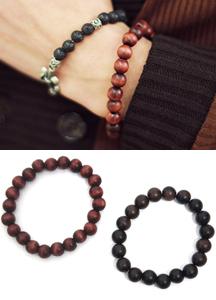 6868 - Wood marbling bracelet <br> (2 color) <br>
