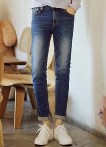 21116 - Soft Washing Basic Denim Pants <br> (4 size) <br>