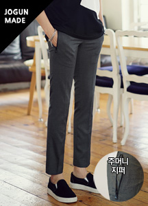 21149 - Zipper Banding Span Slacks <br> <font style=font-size:11px;color:#595959>28/30/32/34</font> <br>