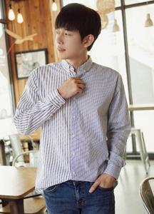 21196 - Unbalance Stripe Shirt <br> (1 size) <br>
