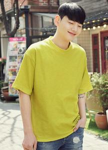 21202 - 8Color Soft loose fit Short T shirts <br> <font color=#db1b1b><b><Slab fabric></b></font> <br> (1 size) <br>