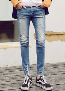 21204 - Scratch Damage Jeans Hem <br> (4 size) <br>