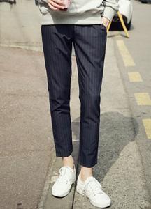 21239 - Slim Fit Stripe Bending Pants <br> (4 size) <br>