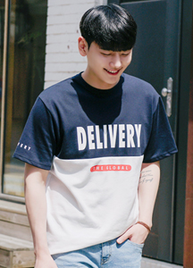 21314 - Delivery incision color combination Short T shirts <br> (1 size) <br>