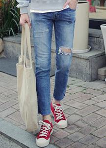 21321 - Renewal Pake Cutting Jeans <br> (4 size) <br>
