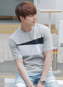 21325 - Slide color combination Short T shirts <br> (2 size) <br>