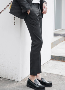 21337 - Pencil Linen Stripe Slacks <br> (4 size) <br>