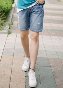 21372 - Washing Domingo Denim Shorts <br> (4 size) <br>