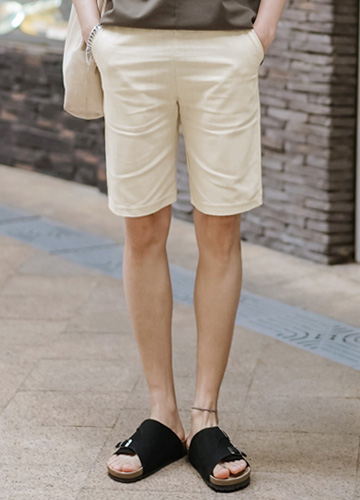 21413 - Lowell Linen Banding Shorts <br> <font style=font-size:11px;color:#595959>28/30/32/34</font> <br>