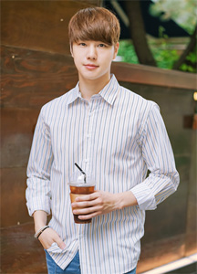21435 - Double pinstripe shirt <br> (2 size) <br>