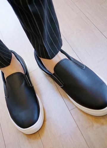 21439 - Basic Leather Slip-on Shoes <br> (5 mm) <br>