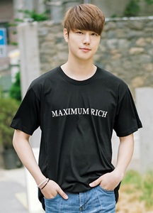 21443 - Maxima printing loose Short T shirts <br> (1 size) <br>