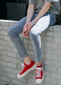 21445 - Shadow Washing Damage Cutting Jean <br> (5 size) <br>