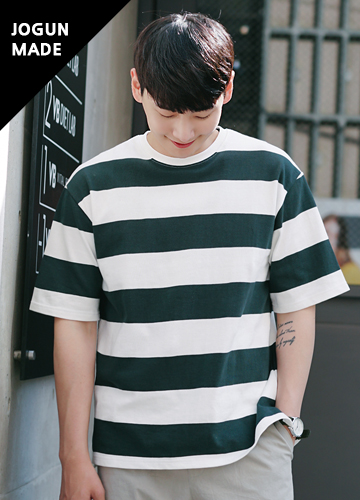 21444 - Bold Stripe Part 5 Short Sleeve Tee <br> <font style=font-size:11px;color:#595959>M (95-100) / L (100-105) / XL (105-110)</font> <br>