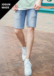 21547 - Soft-cut denim shorts <br> (4 size) <br>