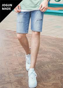 21547 - Soft-cut denim shorts <br> (4 size) <br>
