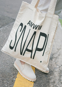 21589 - Snap lettering Eco Bag <br>