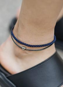 21595 - Triangular pendant anklets <br>