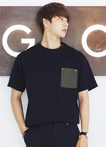 21598 - Stud tax pocket Short T shirts <br> (1 size) <br> <font color=#db1b1b><b><Offline Vest></b></font> <br>