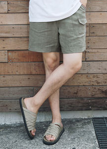 21630 - Linen Banding Shorts <br> (1 size) <br>