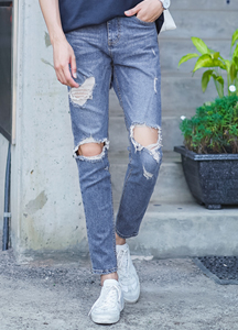 21647 - Hard drive damage Denim Pants <br> (3 size) <br>