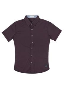 2403 - SH087 / Span Basic Short Sleeve Shirt <br> (2 size) <br>