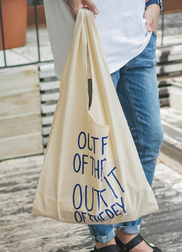 21668 - Lettering Basket Eco Bag <br>
