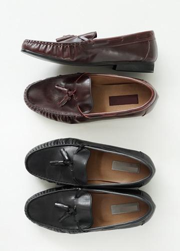 21753 - Wrinkle Leather Tester Loafers <br> (10 mm) <br>