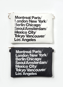 21870 - Lettering Leather Clutch <br>