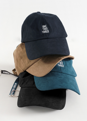 21921 - Number Embroidery Suede Ball Cap <br>