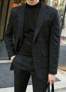 21993 - French Check Suit Setup <br> <font style=font-size:11px;color:#595959>48 (90) / 50 (95) / 52 (100)</font> <br>