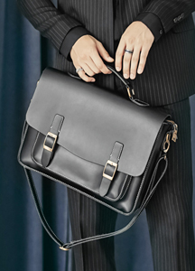 22037 - Medium Leather Satchel Bag <br>