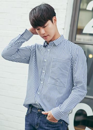 20843 - Lawrence Stripe Shirt <br> (3 size) <br>