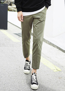 21913 - [MATAMATA] <br> Wide pin tuck Basic cotton pants <br> <font style=font-size:11px;color:#595959>28/30/32/34</font> <br>