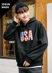 20391 - USA loose fit napping Hoodie <br> (4 size) <br>