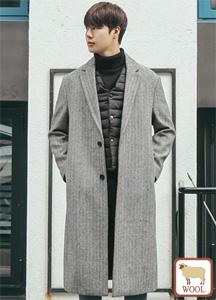 22148 - Damon Herringbone Wool Coat <br> <font style=font-size:11px;color:#595959>48 (95) / 50 (100)</font> <br>