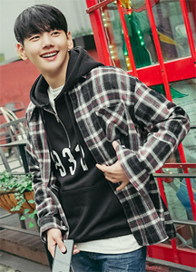 22166 - Heavy Check napping Shirt <br> <font style=font-size:11px;color:#595959>M (100) / L (105)</font> <br>