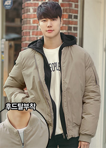 22297 - MA-1 Air Padding jumper <br> <font style=font-size:11px;color:#595959>3 (95) / 4 (100)</font> <br><Hood 탈부착 가능><br>