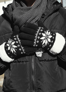 22312 - Soft snowflake Patterns Touch gloves <br> Couples size <br>