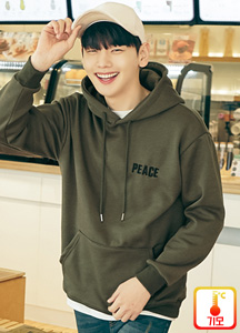 22349 - Peace embroidery napping Hoodie <br> <font style=font-size:11px;color:#595959>Free (95-100)</font> <br>