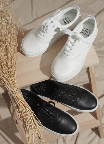 22358 - <b>4.5cm height height shoes</b> <br> Cracker Basic Sneakers <br> <font style=font-size:11px;color:#595959>230mm ~ 280mm</font> <br> <font color=#ff0000><b>[unisex]</b></font> <br>