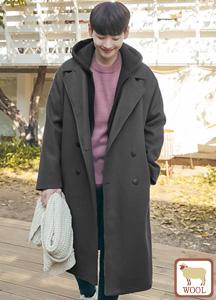 22241 - Modern Classic double Long coat <br> <font style=font-size:11px;color:#595959>M (100) / L (105)</font> <br>