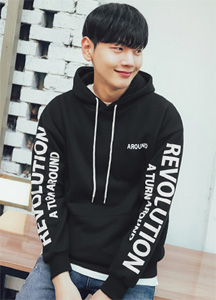 22156 - Around Lettering Hoodie <br> <font style=font-size:11px;color:#595959>Free (95 ~ 105)</font> <br>
