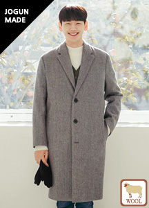 22221 - Classical 3 button wool coat <br> <font style=font-size:11px;color:#595959>M (95) / L (100) / XL (105)</font>