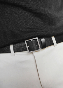 22496 - Square Buckle Cowhide Belt <br>