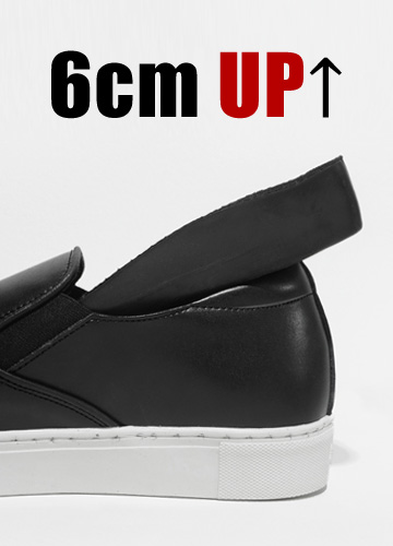 22565 - <b>6cmHeight increase shoes</b> <br> Basic Cowhide Height increase Slip-on Shoes <br> <font style=font-size:11px;color:#595959>245mm ~ 280mm</font> <br>