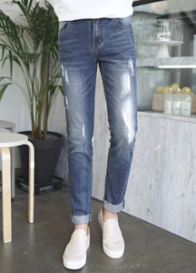 22613 - Drop Over Damage Jeans <br> <font style=font-size:11px;color:#595959>28/30/32/34</font> <br>