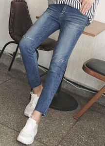 22630 - St Cutting Denim Pants <br> <font style=font-size:11px;color:#595959>28/30/32/34</font> <br>
