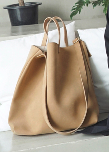 22736 - large Suede Eco & cross bag <br>